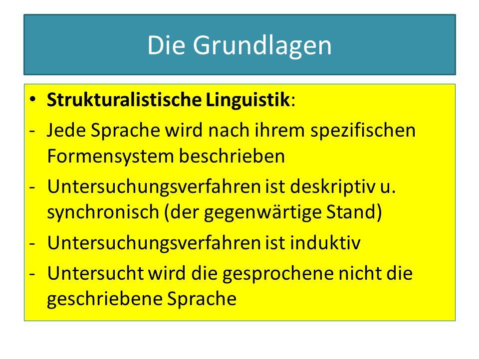 Die Grundlagen Strukturalistische Linguistik: