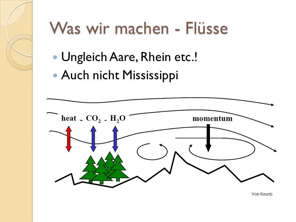 Was wir machen - Flüsse Ungleich Aare, Rhein etc.!