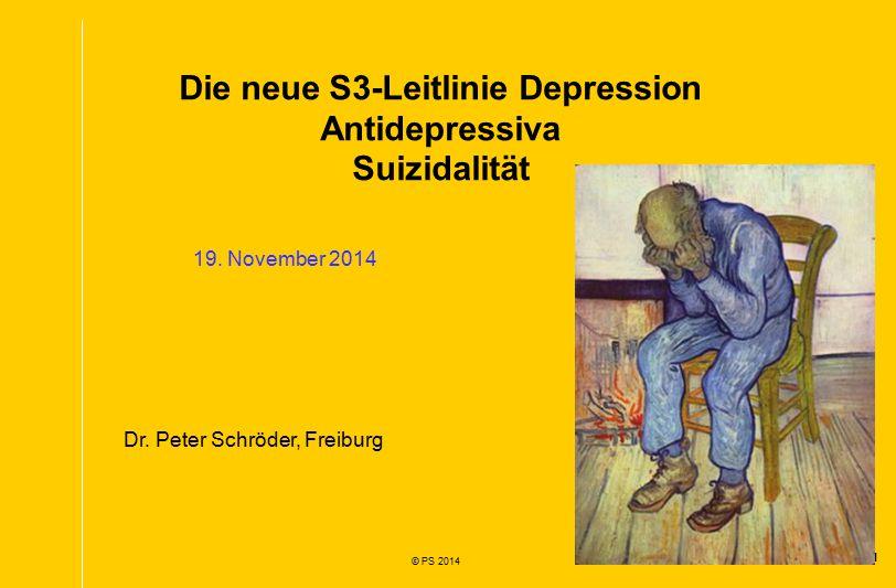 Die neue S3-Leitlinie Depression Antidepressiva Suizidalität