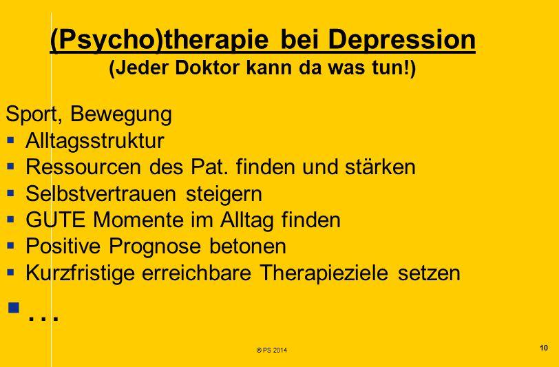 (Psycho)therapie bei Depression (Jeder Doktor kann da was tun!)