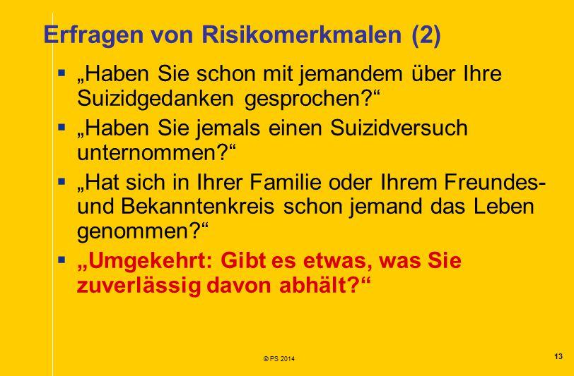 Erfragen von Risikomerkmalen (2)