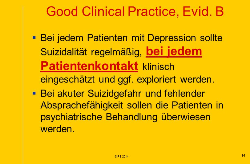 Good Clinical Practice, Evid. B