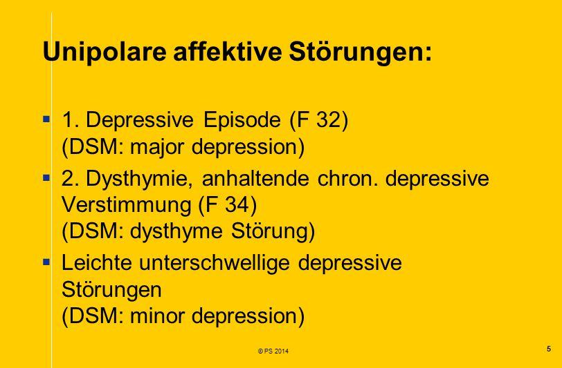 Unipolare affektive Störungen: