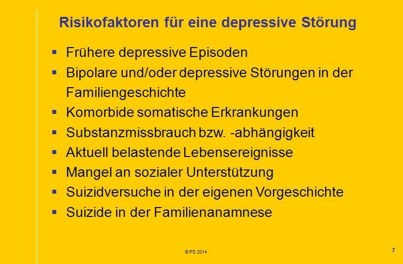 Risikofaktoren für eine depressive Störung