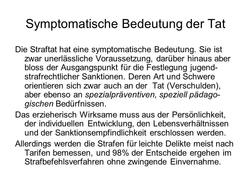 Symptomatische Bedeutung der Tat