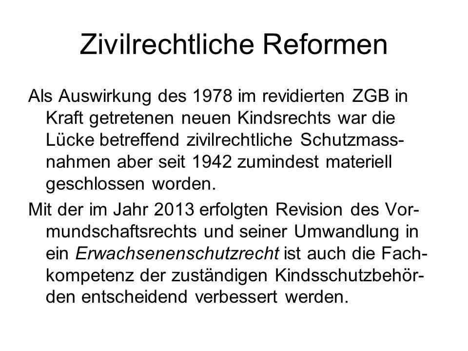 Zivilrechtliche Reformen