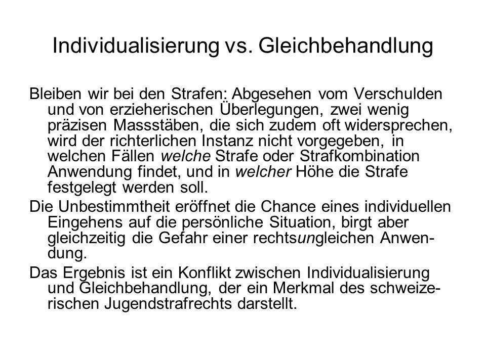 Individualisierung vs. Gleichbehandlung