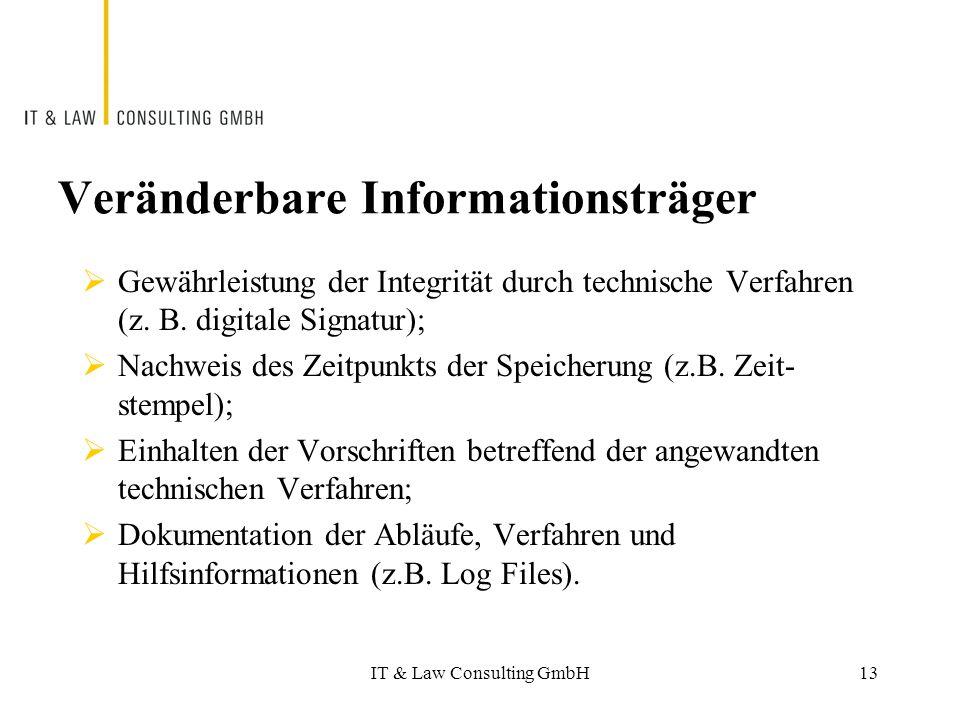 Veränderbare Informationsträger