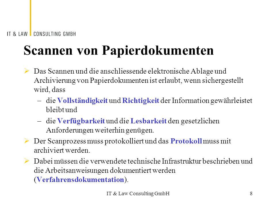 Scannen von Papierdokumenten