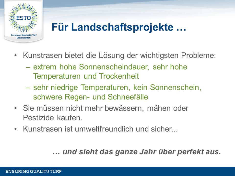 Für Landschaftsprojekte …