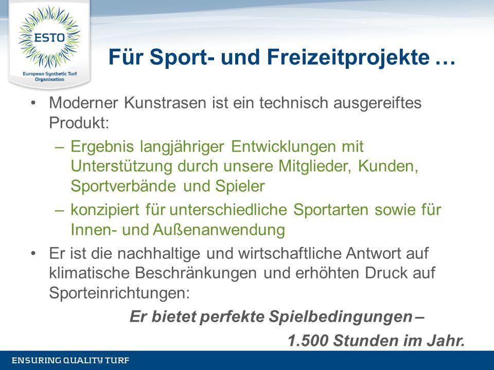 Für Sport- und Freizeitprojekte …
