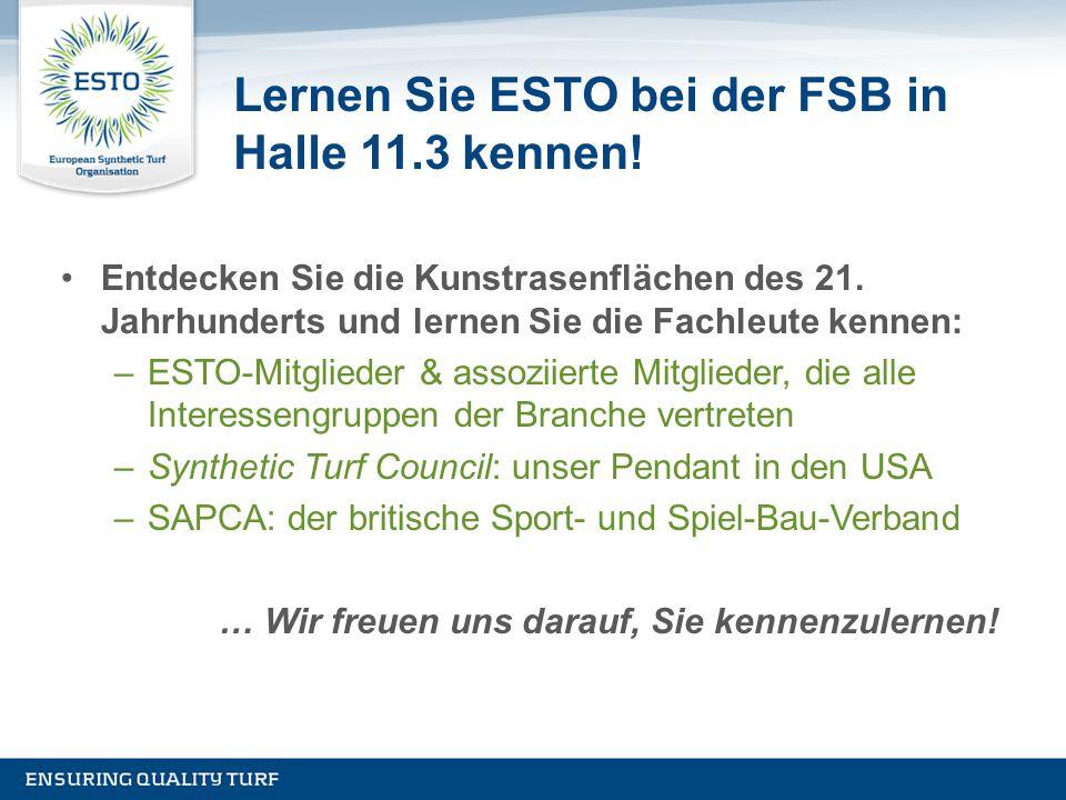 Lernen Sie ESTO bei der FSB in Halle 11.3 kennen!