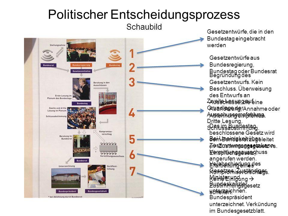 Politischer Entscheidungsprozess Schaubild