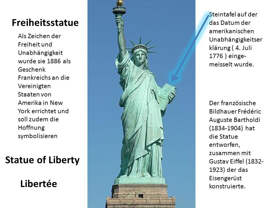 Freiheitsstatue Statue of Liberty Libertée