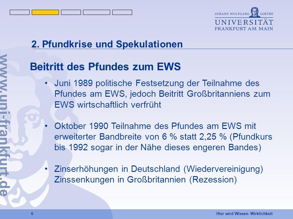 Beitritt des Pfundes zum EWS