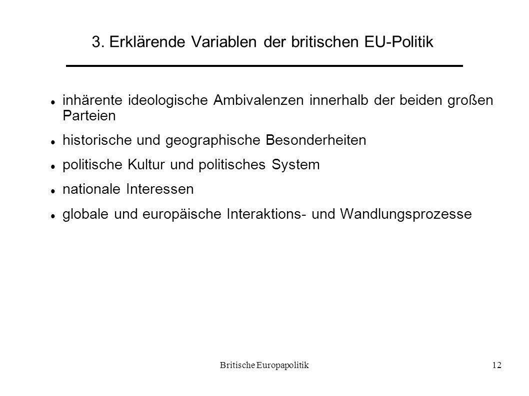 3. Erklärende Variablen der britischen EU-Politik