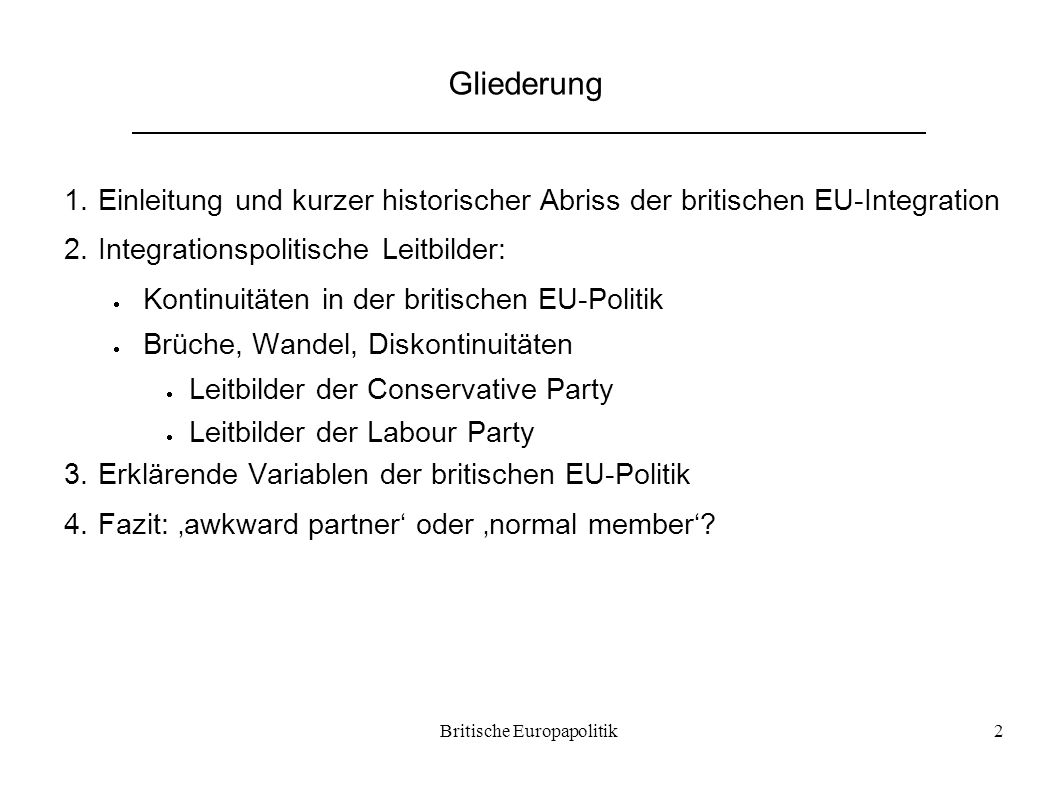Britische Europapolitik