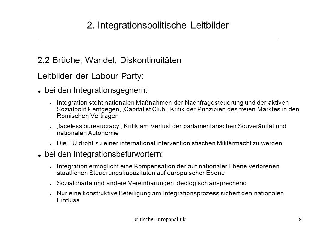 2. Integrationspolitische Leitbilder