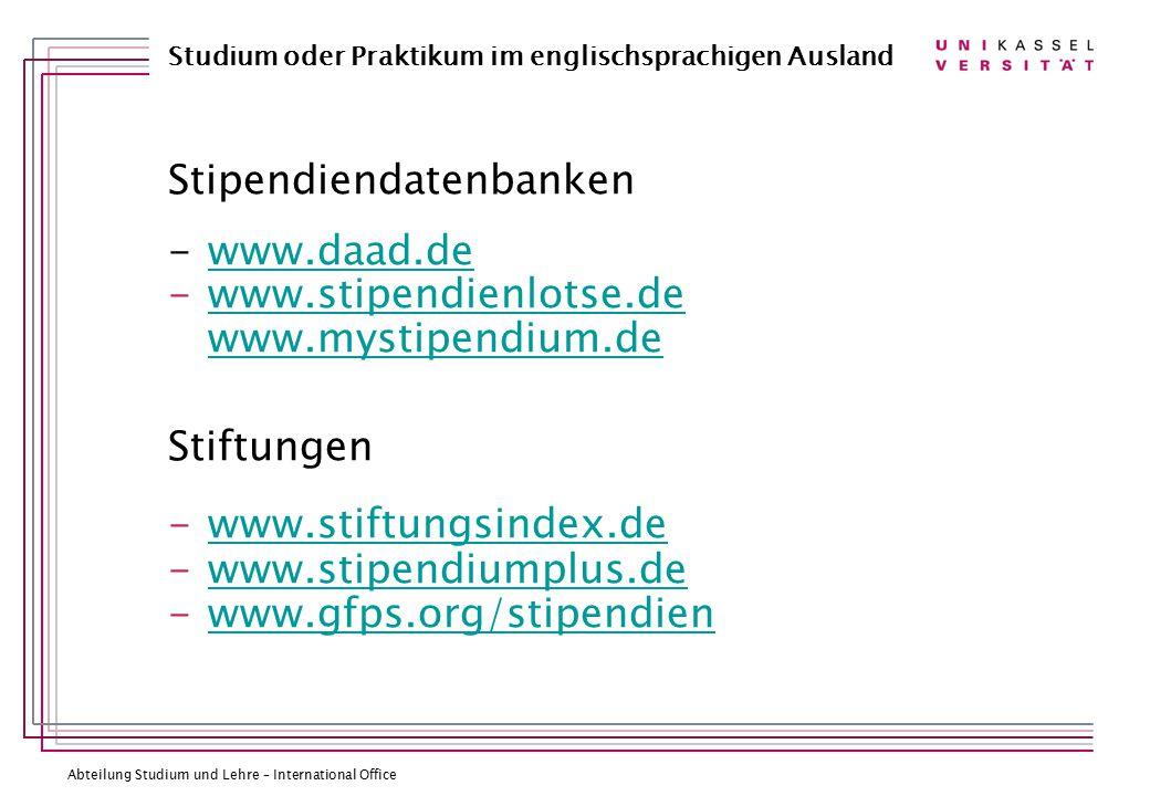 Stipendiendatenbanken