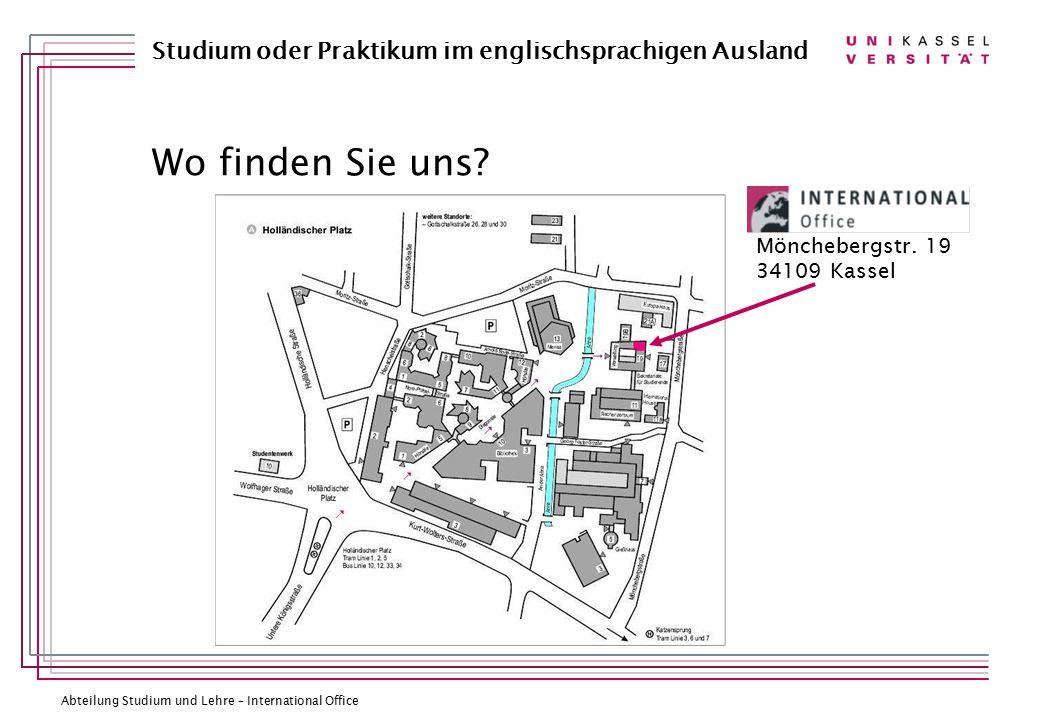 Mönchebergstr. 19 34109 Kassel Wo finden Sie uns