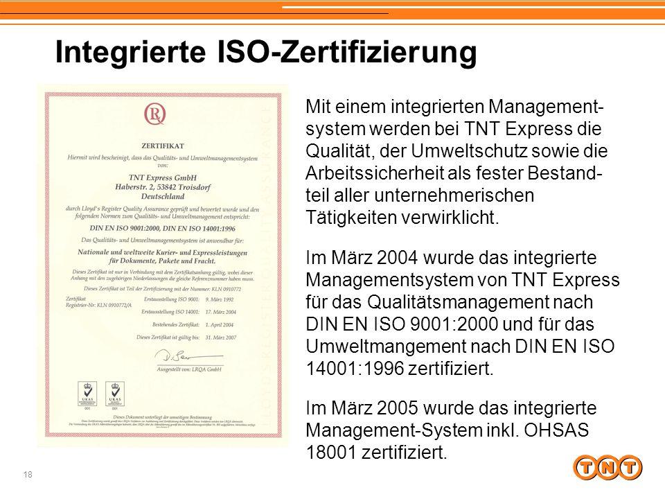 Integrierte ISO-Zertifizierung