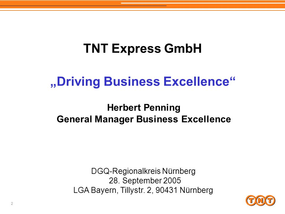 """Driving Business Excellence General Manager Business Excellence"