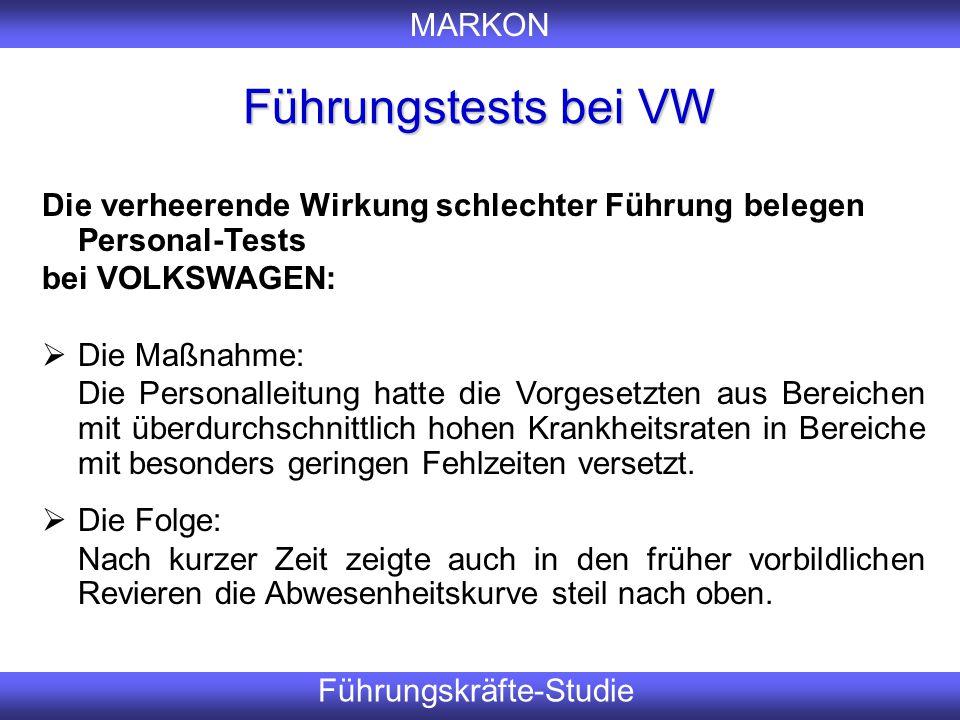 Führungstests bei VW Er