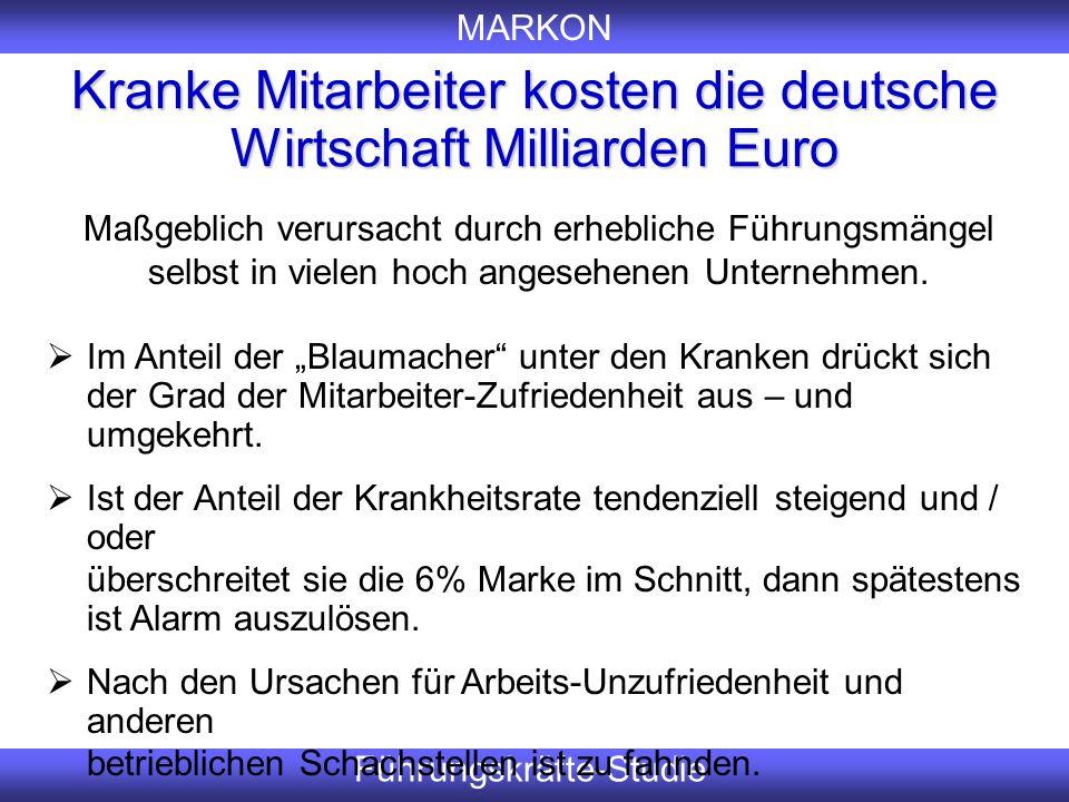 Kranke Mitarbeiter kosten die deutsche Wirtschaft Milliarden Euro