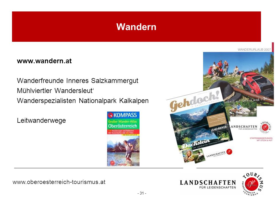 Wandern www.wandern.at Wanderfreunde Inneres Salzkammergut