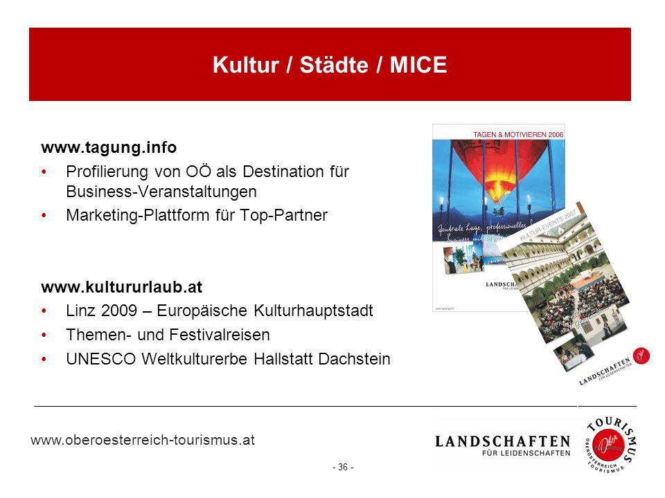 Kultur / Städte / MICE www.tagung.info