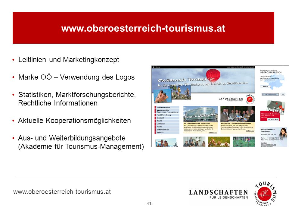 www.oberoesterreich-tourismus.at Leitlinien und Marketingkonzept