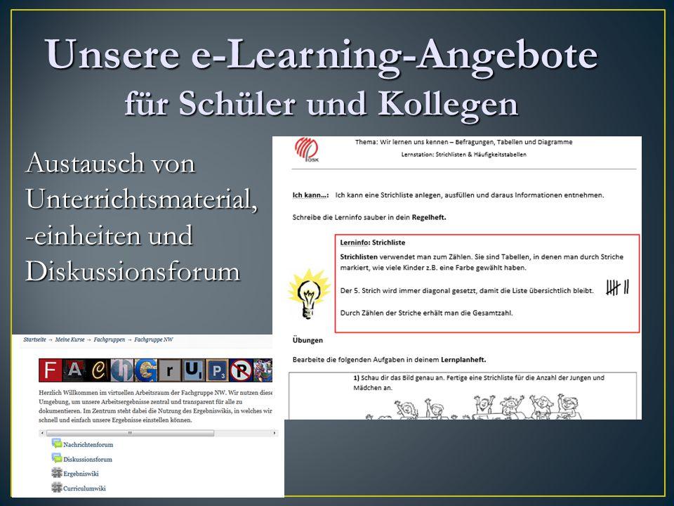 Unsere e-Learning-Angebote für Schüler und Kollegen