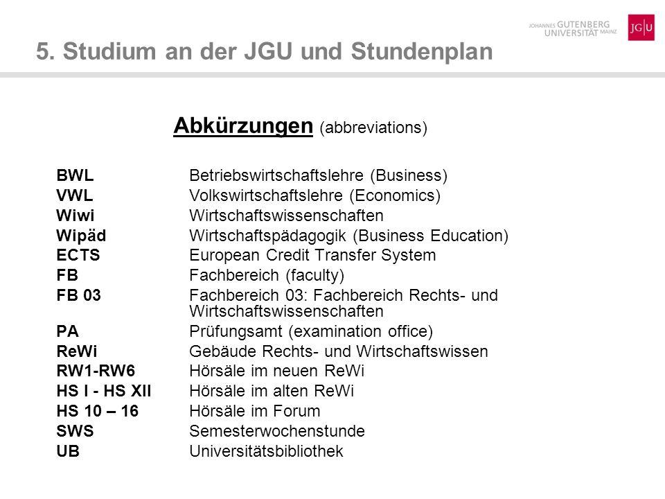 Abkürzungen (abbreviations)