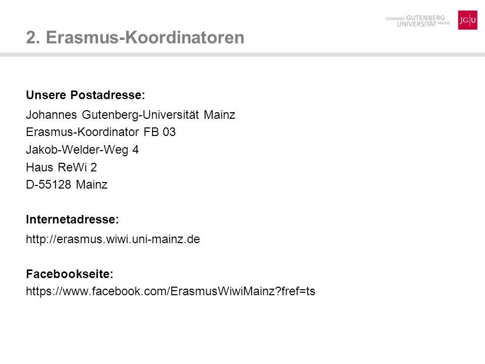 2. Erasmus-Koordinatoren