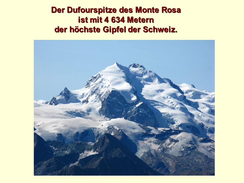 Der Dufourspitze des Monte Rosa der höchste Gipfel der Schweiz.