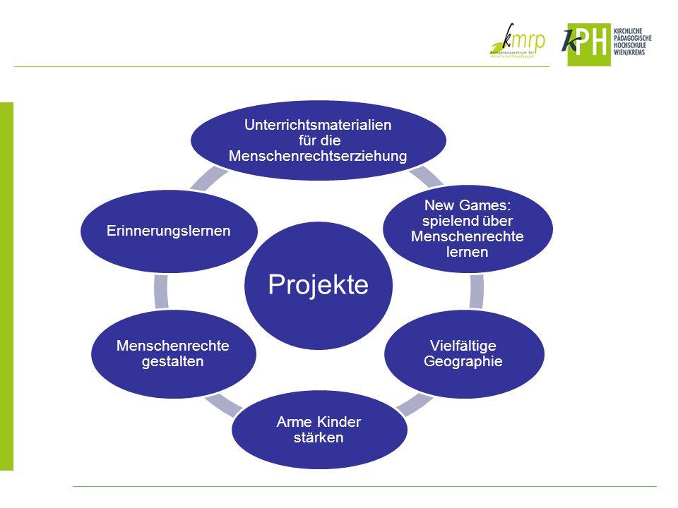 Projekte Unterrichtsmaterialien für die Menschenrechtserziehung