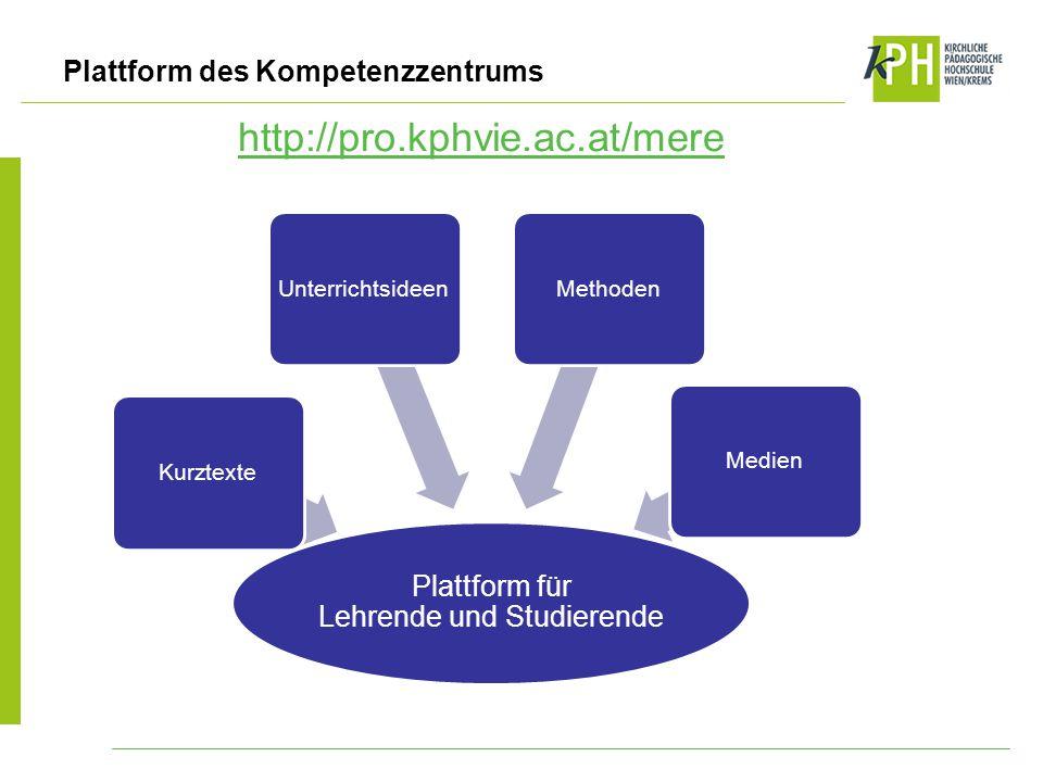 Plattform für Lehrende und Studierende
