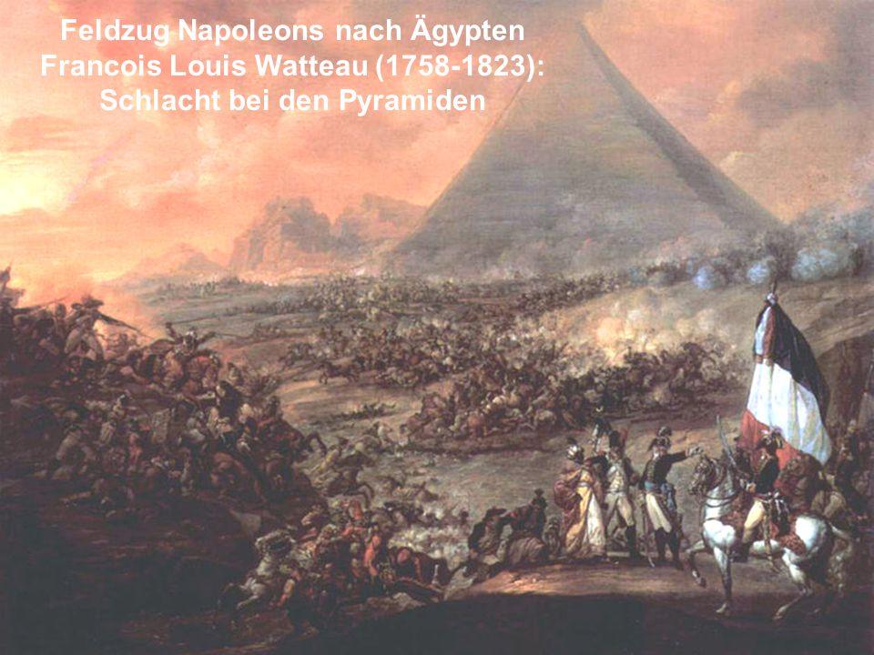 Feldzug Napoleons nach Ägypten Schlacht bei den Pyramiden