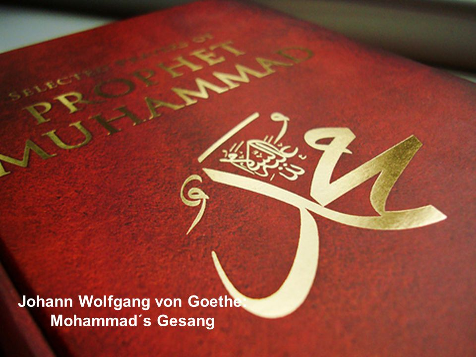 Johann Wolfgang von Goethe: