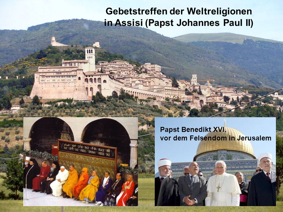 Gebetstreffen der Weltreligionen in Assisi (Papst Johannes Paul II)