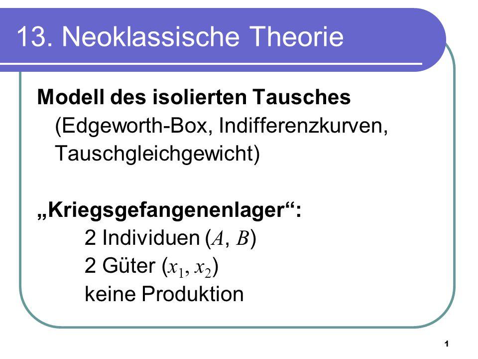 13. Neoklassische Theorie