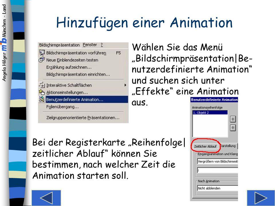 Hinzufügen einer Animation