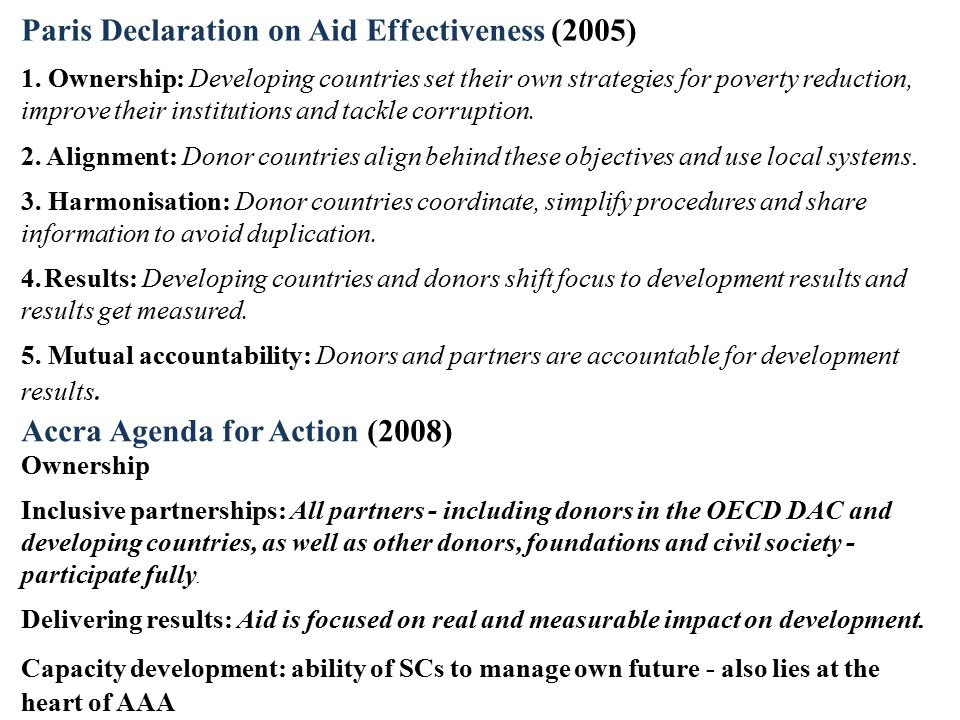 Paris Declaration on Aid Effectiveness (2005)