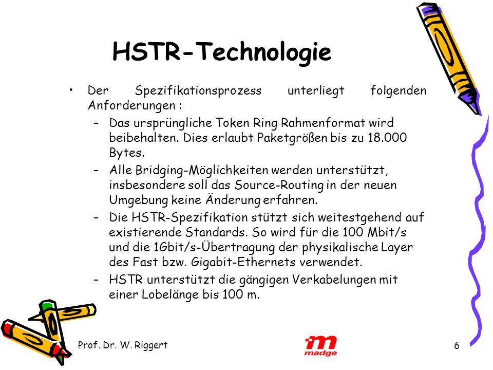 HSTR-Technologie Der Spezifikationsprozess unterliegt folgenden Anforderungen :