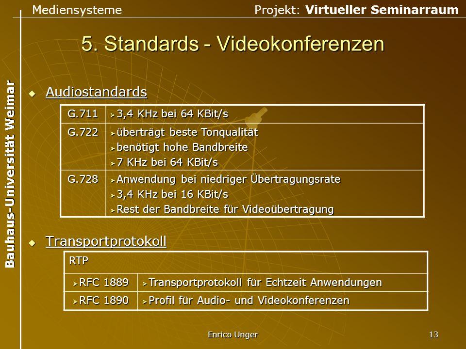 5. Standards - Videokonferenzen