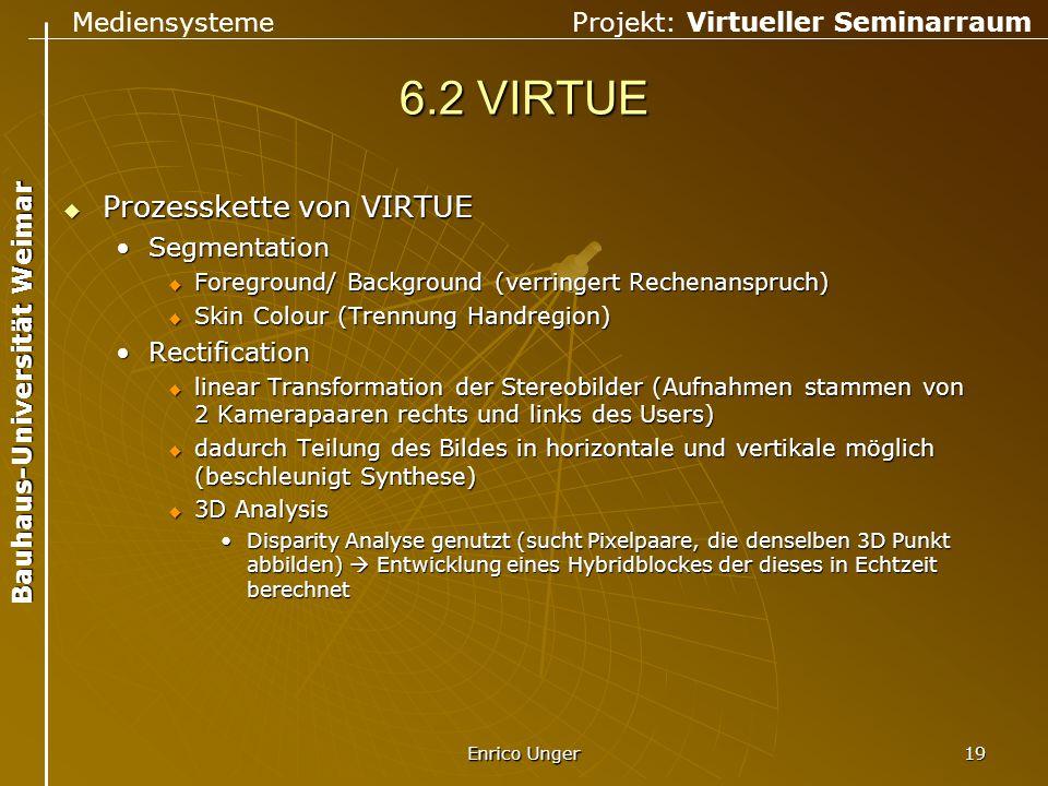 6.2 VIRTUE Prozesskette von VIRTUE Segmentation Rectification