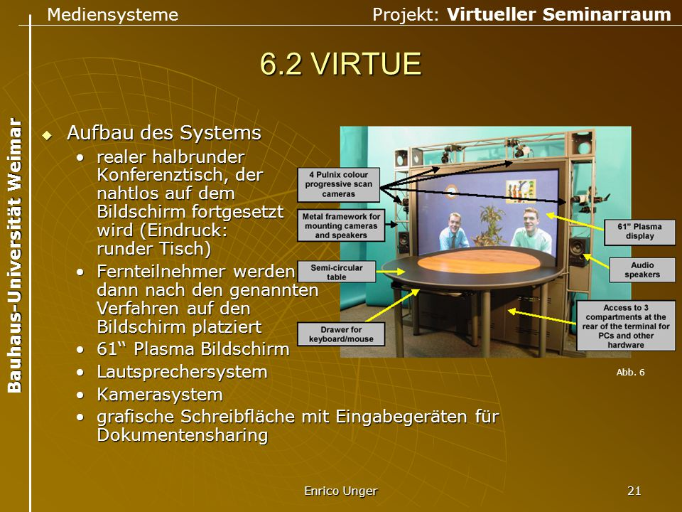 6.2 VIRTUE Aufbau des Systems