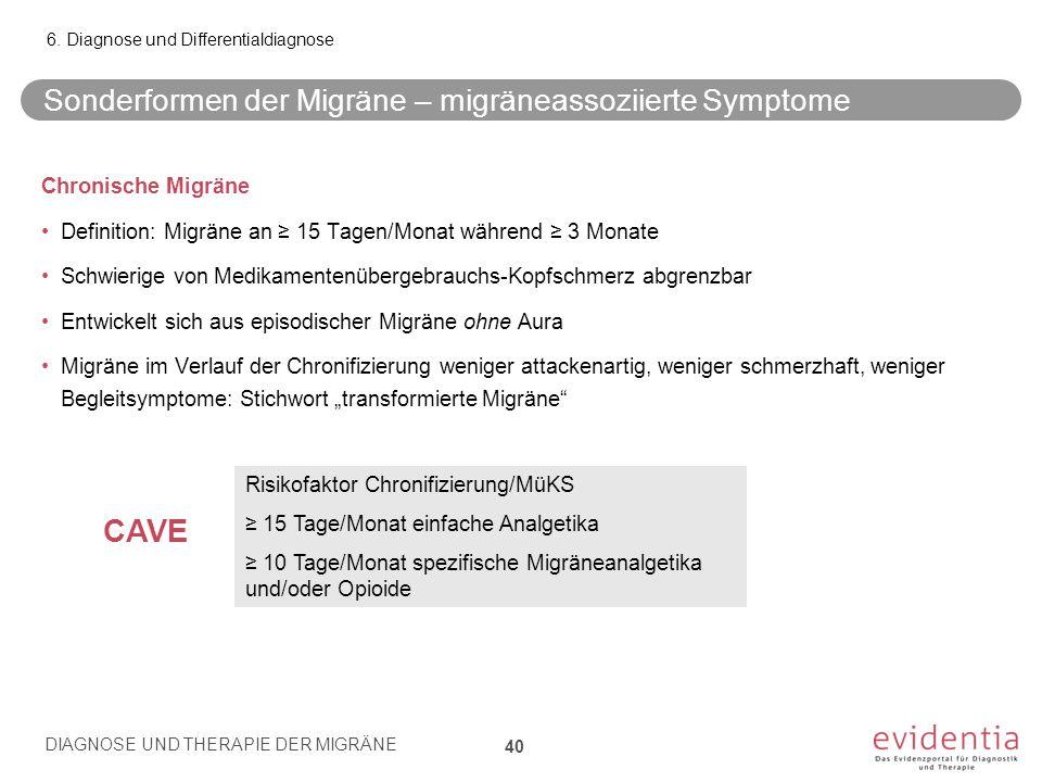 Sonderformen der Migräne – migräneassoziierte Symptome