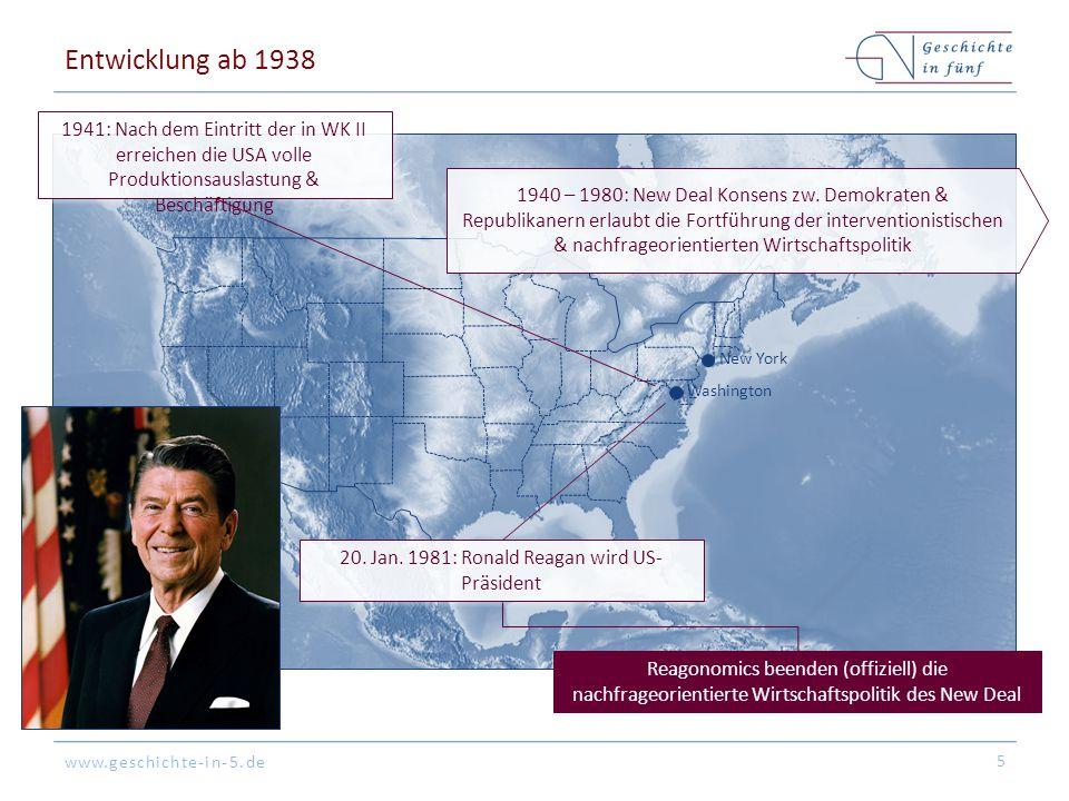 20. Jan. 1981: Ronald Reagan wird US-Präsident