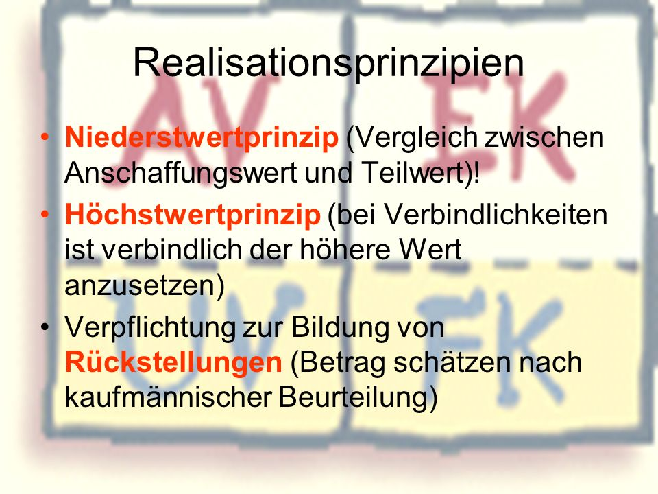 Realisationsprinzipien